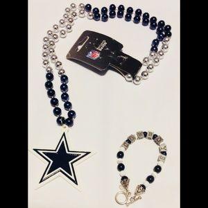 Dallas Cowboys Necklace and Bracelet
